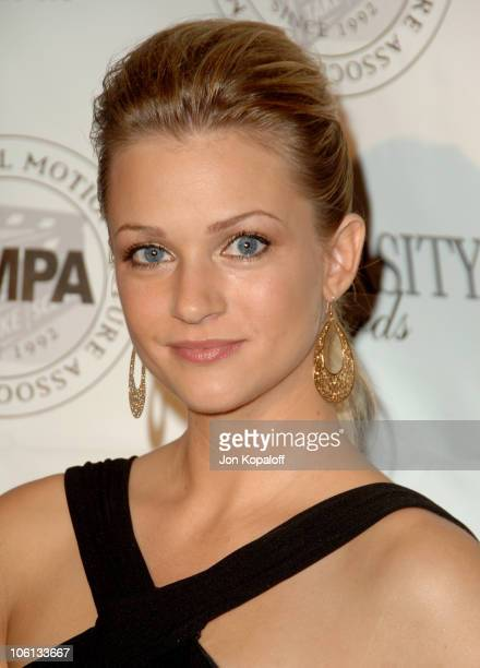 AJ Cook during 14th Annual Diversity Awards Arrivals at Century Plaza Hotel in Century City California United States