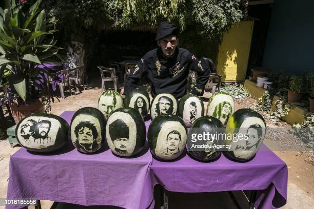 Cook Halil Bozkurt who carves portraits of well known people such as Ataturk Baris Manco Cem Karaca Michael Jackson Cristiano Ronaldo Lionel Messi...