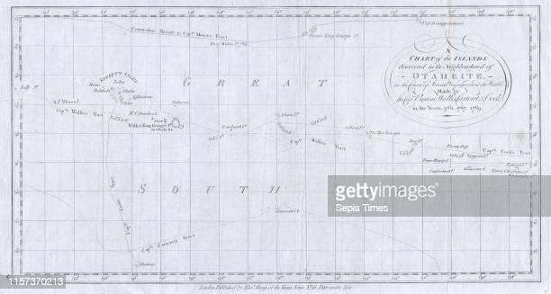 1780 Cook Hogg Map of Tahiti Society Islands