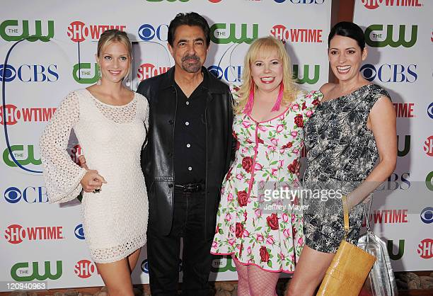 AJ Cook Joe Mantegna Kirsten Nangsness and Paget Brewster arrive at the TCA Party for CBS The CW and Showtime held at The Pagoda on August 3 2011 in...