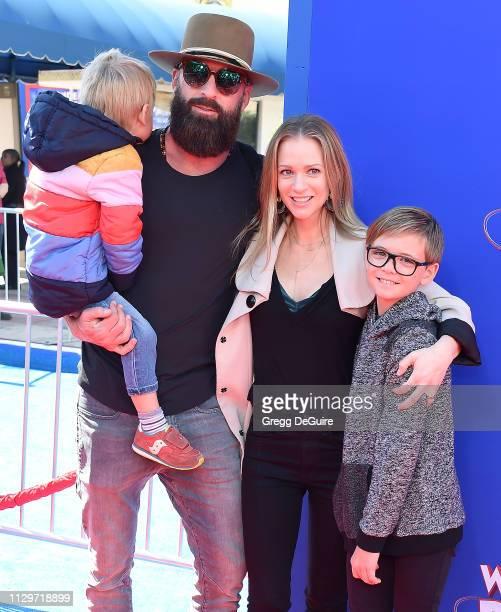 J Cook Nathan Andersen Phoenix Sky Andersen and Mekhai Allan Andersen attend the Premiere Of Paramount Pictures' 'Wonder Park' at Regency Bruin...