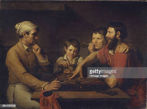 A Cook Playing Draughts with a Caretaker 1824 Found in the collection of the State Russian Museum St Petersburg