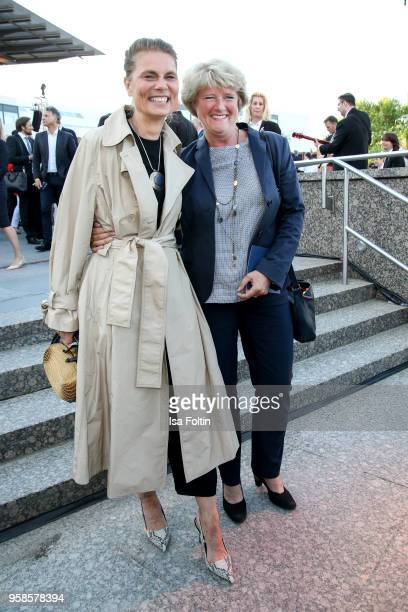 Cook Sarah Wiener and German politician Monika Gruetters during the 13th Long Night of the Sueddeutsche Zeitung at Open Air Kulturforum on January 14...