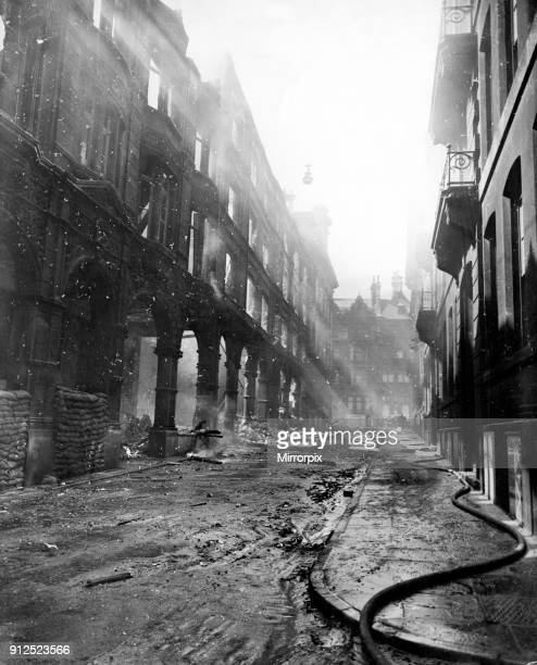 Cook Street Arcade which was attacked by German bombs on the 3rd May 1941 Liverpool Merseyside May 1941
