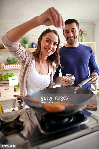 Cook Sie zusammen