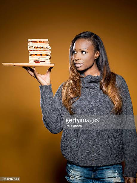 Cook tv presenter and former model Lorraine Pascale is photographed for the Observer on December 17 2012 in London England