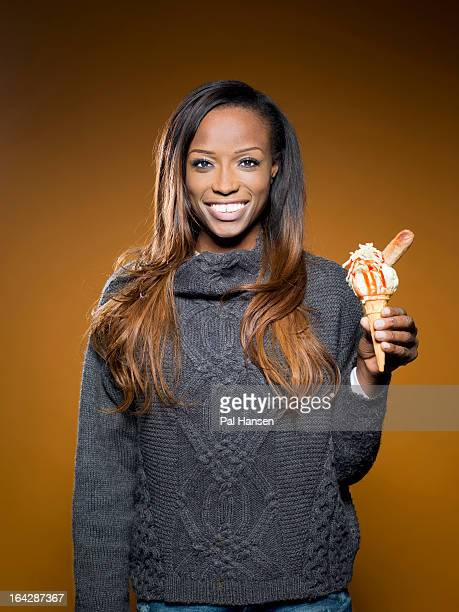 Cook, tv presenter and former model Lorraine Pascale is photographed for the Observer on December 17, 2012 in London, England.