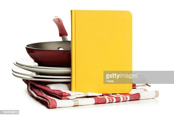 Cookbook and kitchen utensils