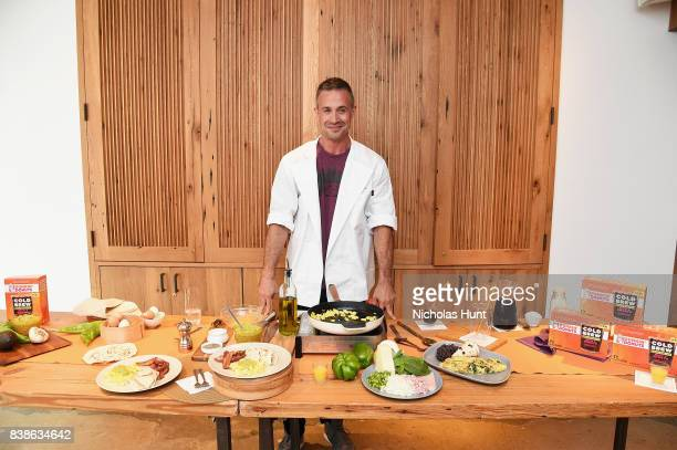 Cookbook author and actor Freddie Prinze Jr helps Dunkin' Donuts® Coffee at Home launch Its new Cold Brew Coffee Packs on August 24 2017 in New York...