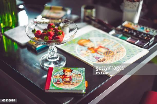Couverture de livre de cuisine et l'art original