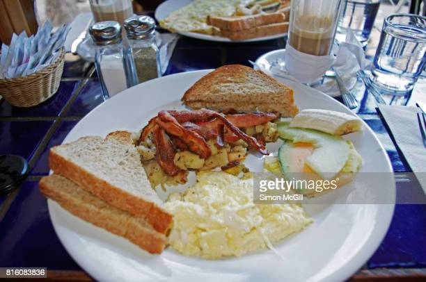 A cooked breakfast at a diner in Montreal, Quebec, Canada
