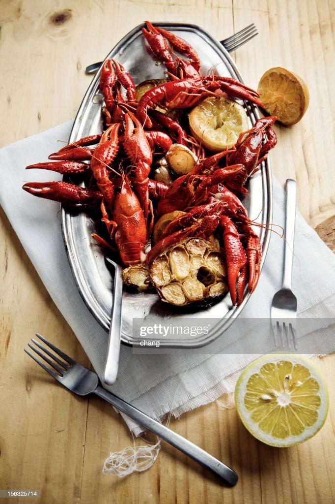 Cooked Crayfish : Stock Photo