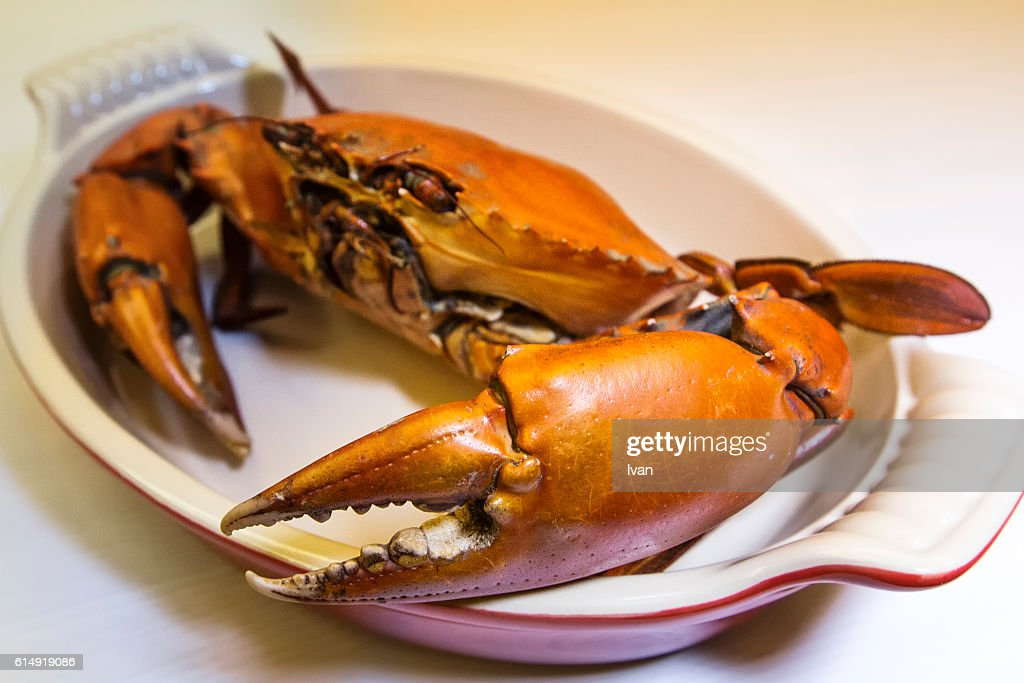 Cooked Delicious Yangcheng Lake Crabs : Stock Photo