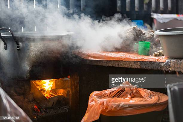 Cooked Meat Steaming On A Table