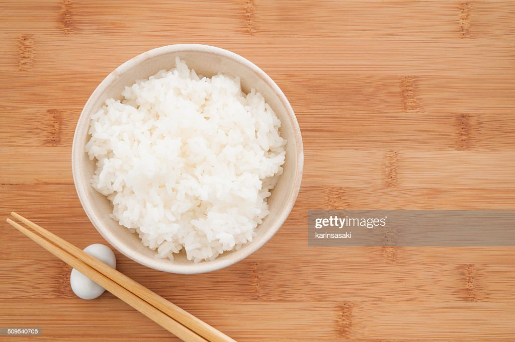 Cooked white rice : Stock Photo