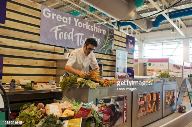 Cookery demonstration at the Great Yorkshire Show.