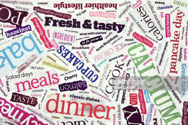cookery text collage - single word stock pictures, royalty-free photos & images