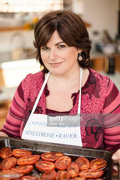 Cookery writer Diana Henry is photographed for the Telegraph on September 3 2009 in London England