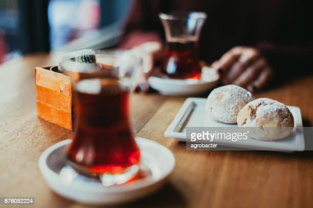 Cookie and turkish tea