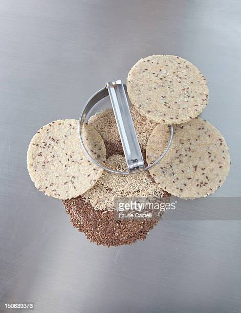 Cookie cutter with dough rounds