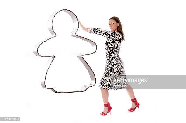 Cookie Cutter Woman Push