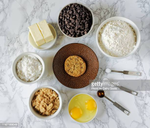 cookie ingredients - ingredient stock pictures, royalty-free photos & images