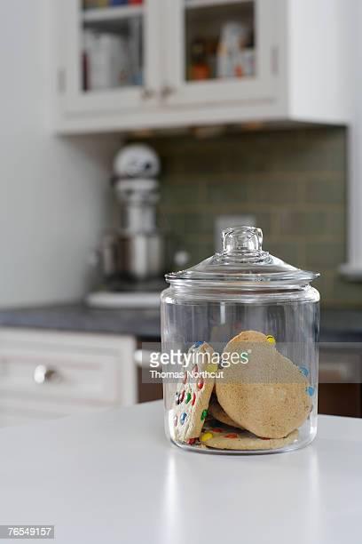 Cookie jar on kitchen counter