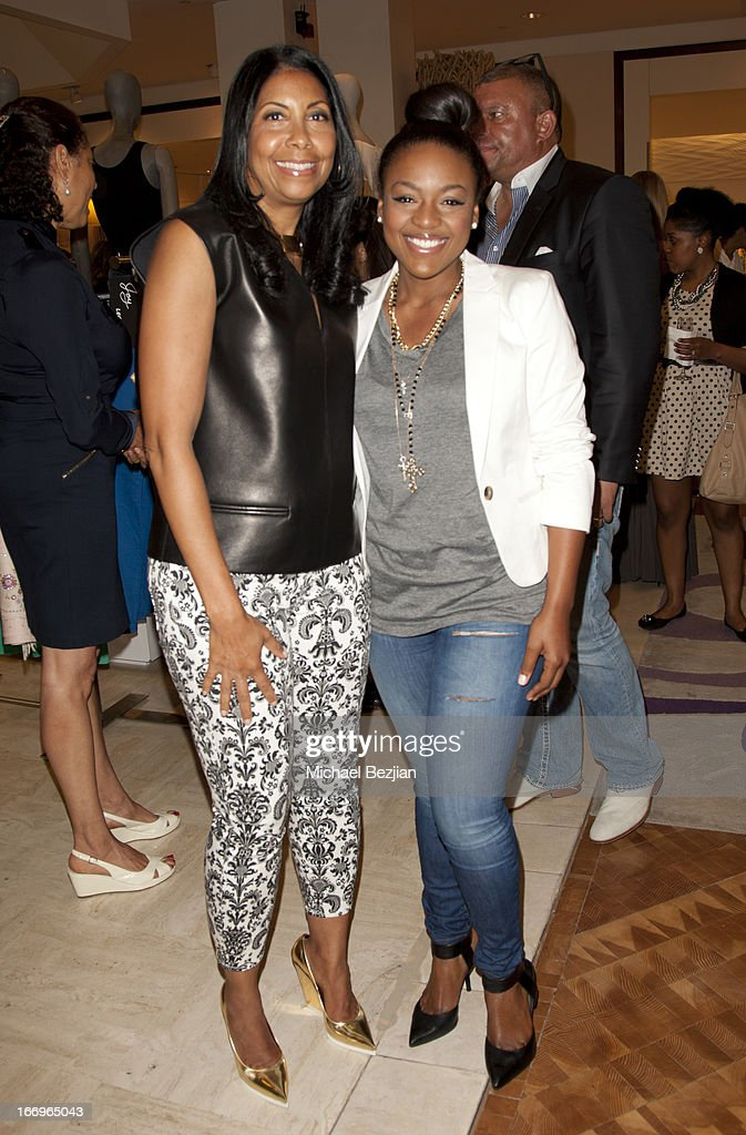 Cookie Johnson and Courtney Jones attend Cookie Johnson and Neiman Marcus host Girls Night Out on April 18, 2013 in Beverly Hills, California.