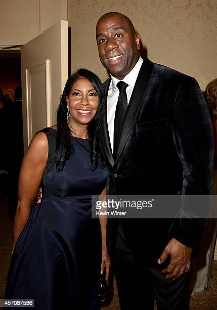 Cookie Johnson and honoree Earvin 'Magic' Johnson attend the 2014 Carousel of Hope Ball presented by MercedesBenz at The Beverly Hilton Hotel on...