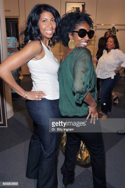 Cookie Johnson and Pauletta Washington pose at the Introduction of CJ Denim By Cookie Johnson at Nordstrom on March 28 2009 in Los Angeles California