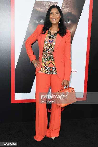 Cookie Johnson attends premiere of Columbia Picture's Equalizer 2 at TCL Chinese Theatre on July 17 2018 in Hollywood California