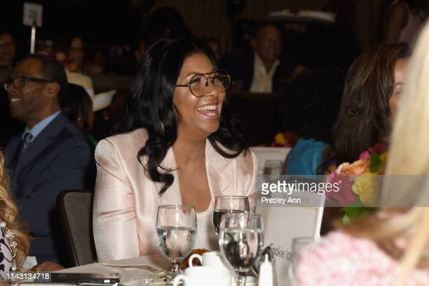 Cookie Johnson attends The LadyLike Foundation Women Of Excellence Luncheon at The Beverly Hilton Hotel on May 11 2019 in Beverly Hills California