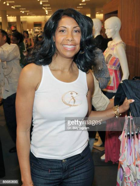 Cookie Johnson poses at the Introduction of CJ Denim By Cookie Johnson at Nordstrom on March 28 2009 in Los Angeles California