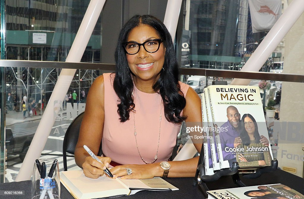 "Cookie Johnson Signs Copies Of Her New Book ""Believing In Magic: My Story Of Love, Overcoming Adversity And Keeping The Faith"""