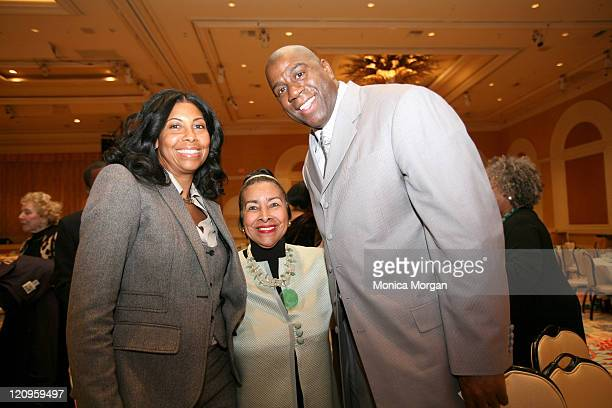 Cookie Johnson Xernona Clayton founder of The Trumpet Awards and Magic Johnson