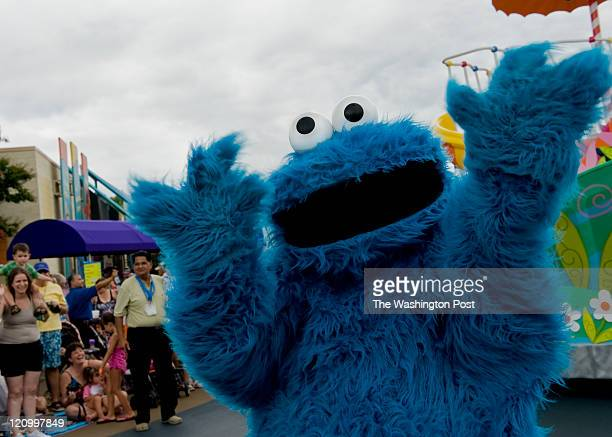 Cookie Monster entertains the crowds gathered along the parade route at Sesame Place Thursday, Aug.4, 2011 in Langhorne, PA. Photo by Katherine...