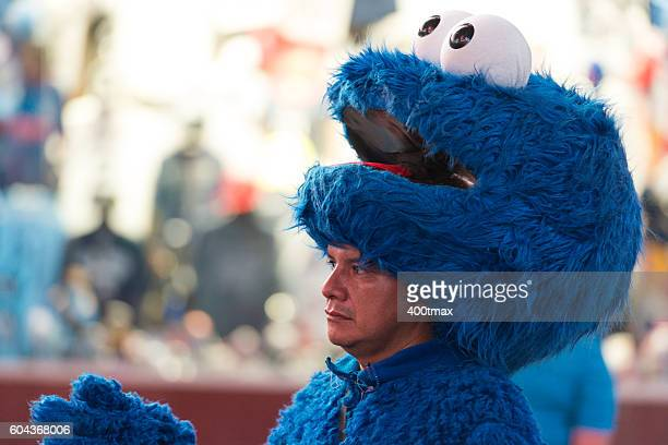 cookie monster - cookie monster stock pictures, royalty-free photos & images