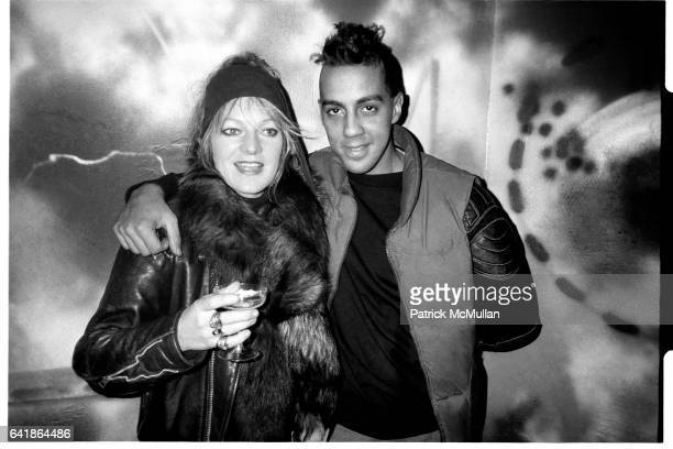 Cookie Mueller and Futura 2000 at 4D for the Opening of the Futura Room Thursday November 13 1986