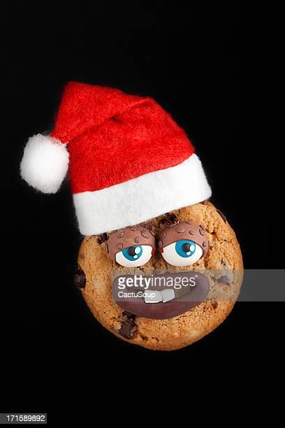 cookie - santa face stockfoto's en -beelden