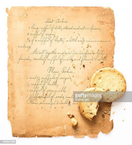 クッキーのレシピ - 料理本 ストックフォトと画像