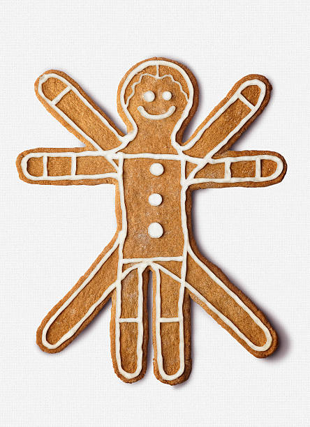 Cookie shaped as the classic  vitruvian Man