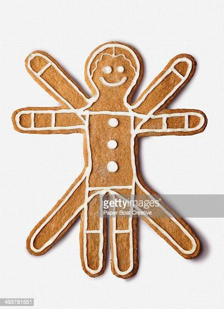 Cookie shaped as the classic  vitruvian Man
