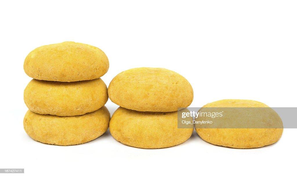 cookie Süßigkeiten auf weißem Hintergrund : Stock-Foto