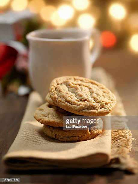 Cookies and a cup of Coffee at Christmas Time