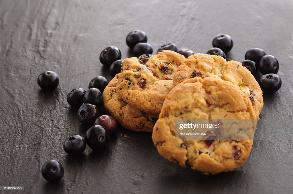 cookies and blueberries : Foto stock