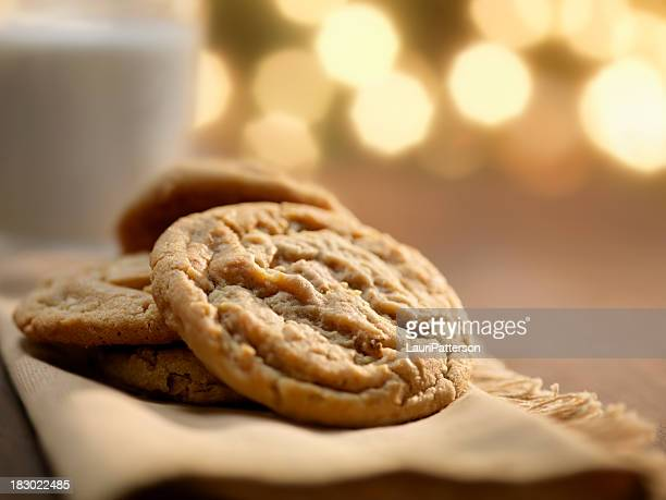Cookies and Milk at Christmas Time