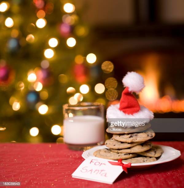 Kekse und Milch für Santa