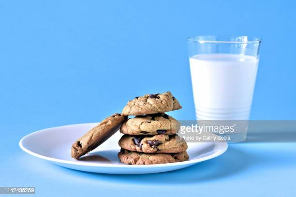 cookies and milk - cookie stock pictures, royalty-free photos & images