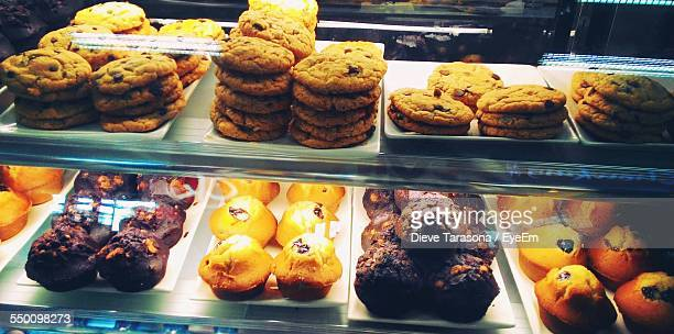 Cookies And Muffins Displayed At Store