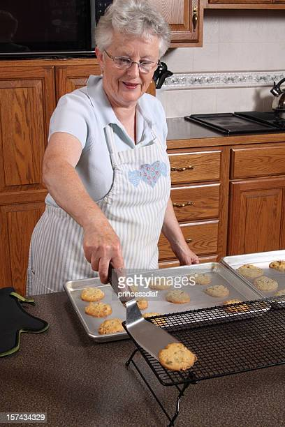 cookies are done! - cooling rack stock photos and pictures